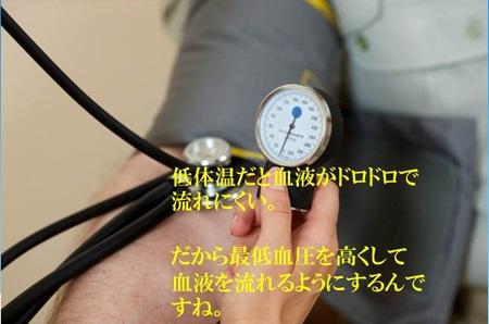 低体温だと最低血圧が高い